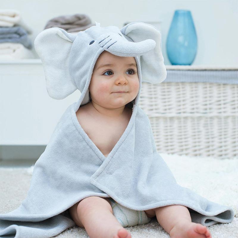 Детское полотенце с капюшоном в виде слона