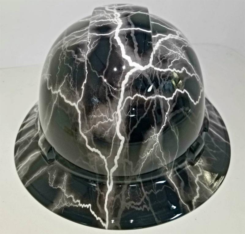Каска аквапринт электрические разряды