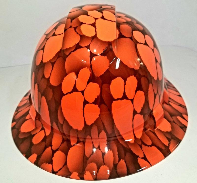 Оранжевая каска, аквапринт