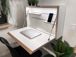 Складной стол на стене