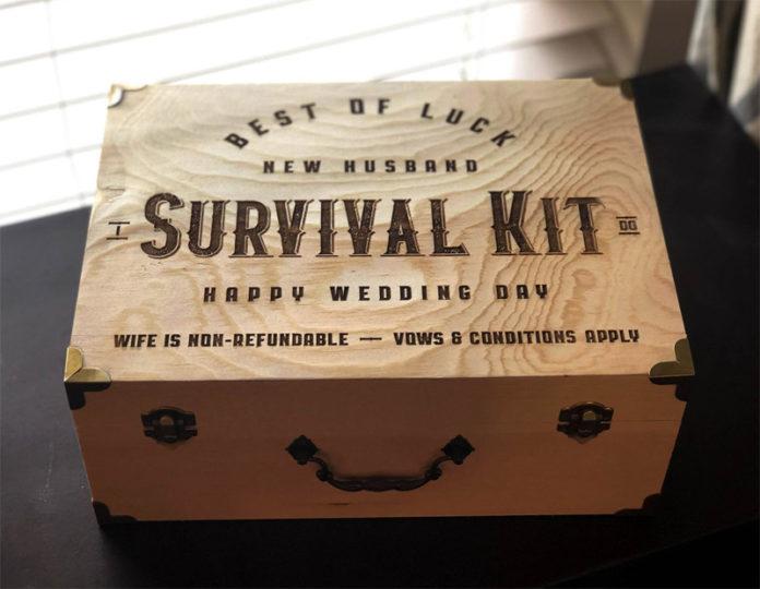 Как сделать набор для выживания жениха из деревянного ящика