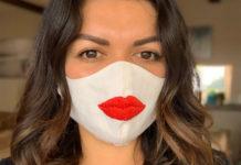 Маска с губами - ниша на Etsy