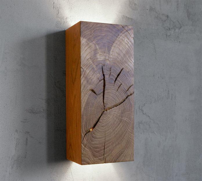 Деревянные светильники из отходов древесины