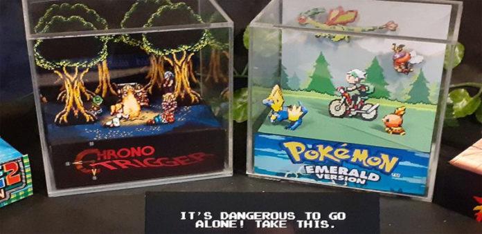 Кубические диорамы из оргстекла для фанатов компьютерных игр