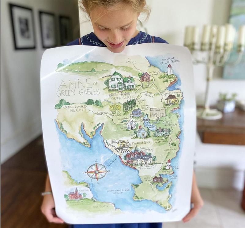 Распечатанная карта-иллюстрация