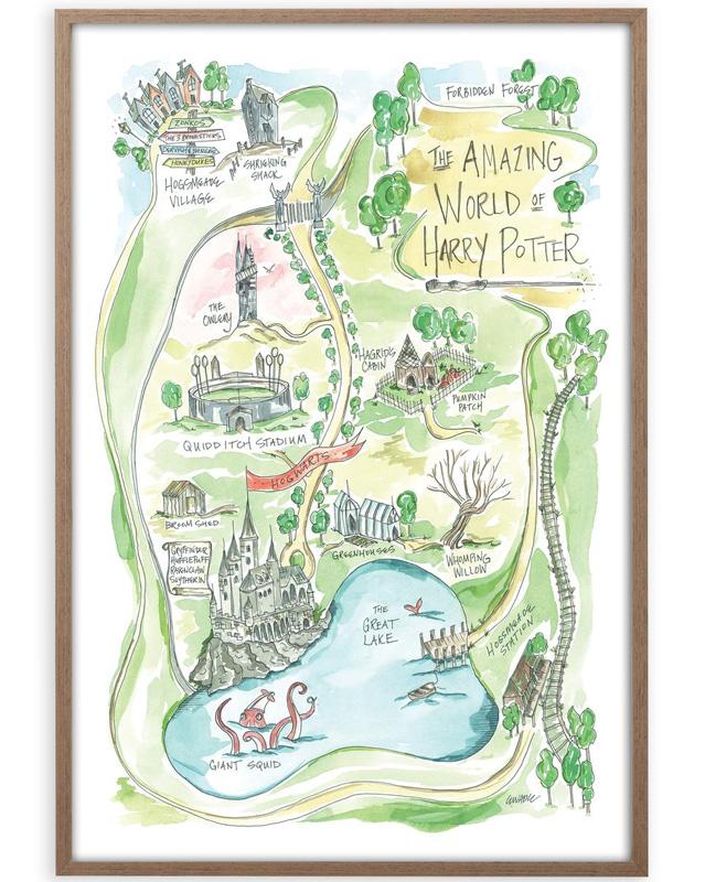 Карта Хогвартса о Гарри Поттере