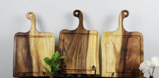 Деревянные разделочные доски с необработанным краем