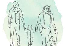 Семейный портрет одной линией - ниша на Etsy